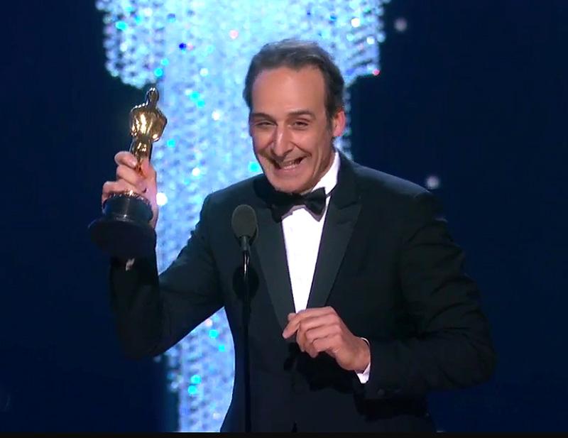 Alexandre Desplat receives his Oscar