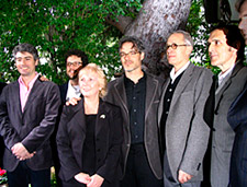 Score nominees (from left) Dario Marianelli, Michael Giacchino, ASCAP Senior VP Nancy Knutsen, Marco Beltrami, James Newton Howard and Alberto Iglesias