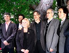 Score nominees (from left) Dario Marianelli, Michael Giacchino, ASCAP Senior VP Nancy Knutsen, Marco Beltrami, James Newton Howard and Alberto Iglesias