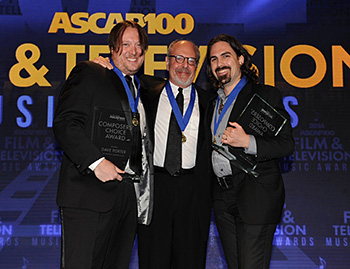Composers Dave Porter, Mark Snow and Bear McCreary at the recent ASCAP Film & TV Awards