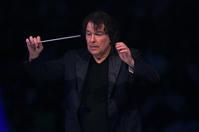 David Newman conducting the LA Phil for 'E.T.'.