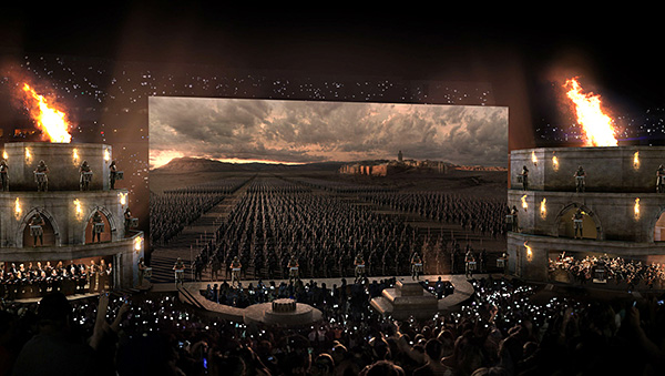 Concept art for the Game of Thrones concert. (HBO/LiveNation)