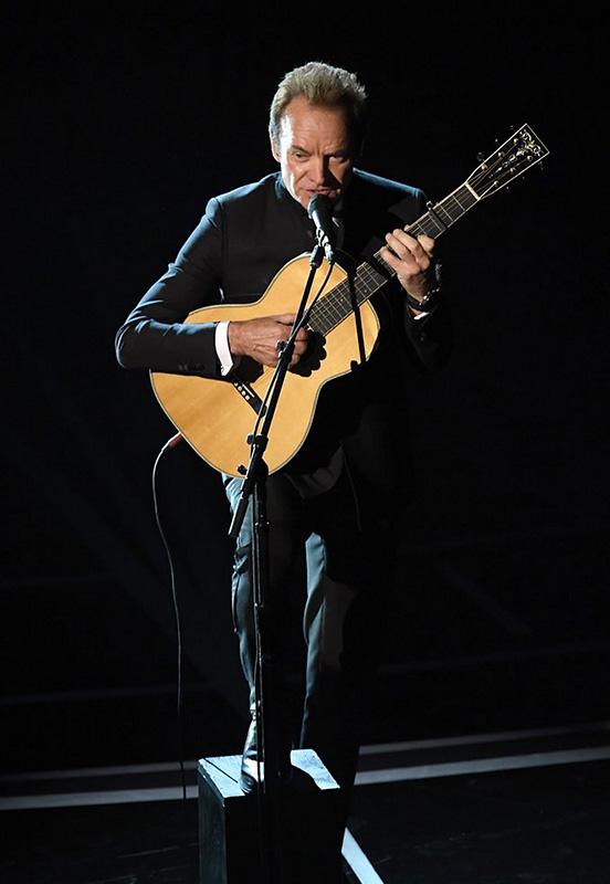 Sting sings