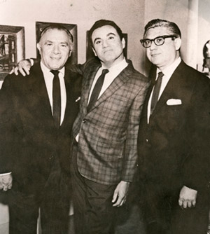 Szathmary brothers Al, Bill (Dana) and Irving, circa 1960s.