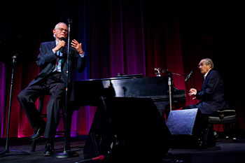 lan Bergman and Michel Legrand perform