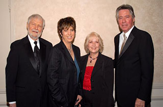 L to R: Bill Holman, Diane Warren, ASCAP executive Nancy Knutsen, Alan Silvestri.