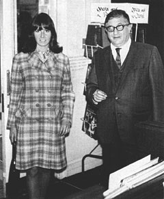 Herrmann with wife Norma Shepherd, 1968.