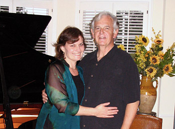 Violinist Belinda Broughton and composer Bruce Broughton