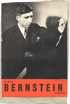 Program for Bernstein recital, 1947