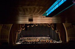 Morricone and the Rome Sinfonietta Orchestra at Radio City Music Hall (photo by Stephen Shadrach)