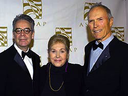 Composer Howard Shore, ASCAP President Marilyn Bergman and Director Clint Eastwood Photo courtesy of ASCAP