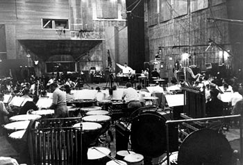 Elmer Bernstein recording his score for