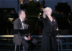 Douglas Sills as Joe Gillis and Betty Buckley as Norma Desmond.